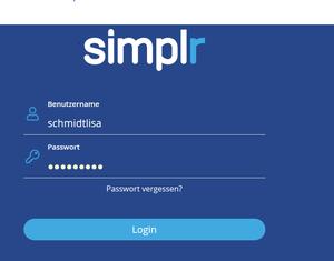 Anmeldung simplr für Kunden