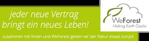 Versicherungsmakler Bremen - neue Bäume durch Verträge über WeForest
