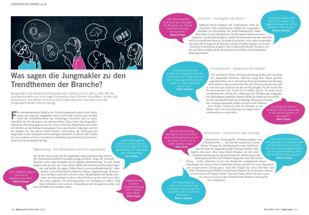 Jungmakler Award 2018, Trendthemen, Marie Christina Schröders SaFiVe Versicherungsmaklerin Aschaffenburg