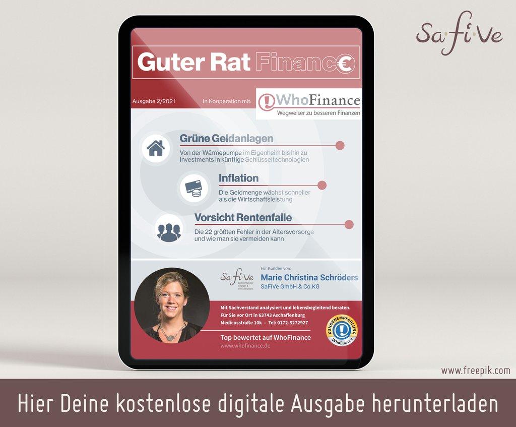 Guter Rat - Finanzmagazin - Whofinance - SaFiVe Versicherungsmakler Aschaffenburg