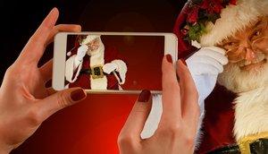 weihnachten smartphone handy cyber