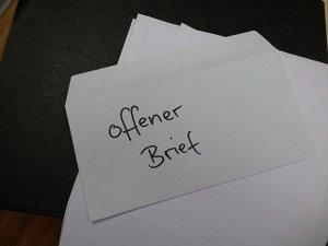 offener Brief zur BU-Versicherung